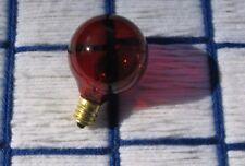 new C7 130v TRANSPARENT RED CHRISTMAS LIGHT bulb 10w Round nose Globe ~ G12.5
