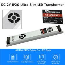 AC to DC12V Ultra Slim IP20 LED Driver Power Supply Transformer 240V UK Stock
