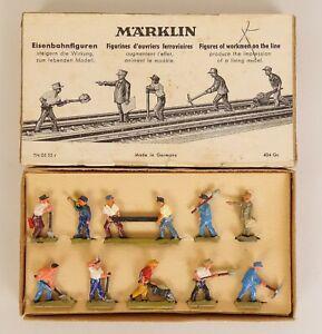 MARKLIN #404Gc HO SCALE DIE-CAST RAILROAD WORKMEN FIGURES-NEAR MINT IN OB!