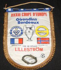 FANION WIMPEL GIRONDINS BORDEAUX LILLESTROM NORGE EUROPEAN CHAMPIONS CUP 1987