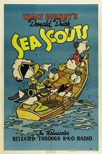 DONALD DUCK MOVIE POSTER Sea Scouts RARE HOT VINTAGE