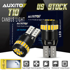 CANBUS Error Free T10 LED License Plate Light Bulbs 6000K White 168 2825 194 158