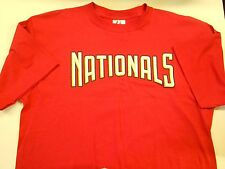 """Nos Vtg '90's Majestic Nationals T-Shirt X-Large 46"""" Chest Red Nice!"""