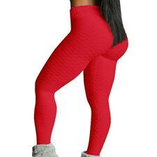Womens Breathable Elastic Yoga Anti Cellulite Gym Compression Leggings Pants GOU