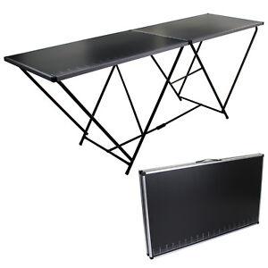 2M Metal Wallpaper Pasting Table Decorating Measuring Folding Portable Aluminium