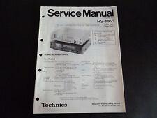 Original Service Manual Technics RS-M65