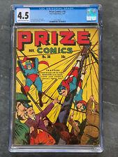 Prize Comics #36 Yank & Doodle Bondage Cover 10c Golden Age 4.5 CGC VG+ 1943