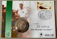 """Fussball - Numisbrief - 2004 - 50 Jahre """"Das Wunder von Bern"""" / WM 1954"""