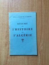 RESUME DE L'HISTOIRE DE L'ALGERIE
