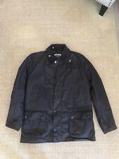 mens barbour wax jacket large