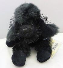 Ganz Webkinz Black Poodle dog Plush with CODE Hm191
