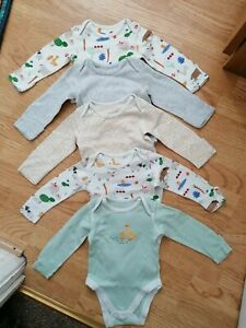 Baby Boy M&S long sleeve bodysuits bundle 3-6 months