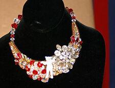 Wendy Gell/Disney '89 Crystal / Rhinestone Arctic Polar Bear Necklace / Collar