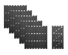WPC Ibiza Sichtschutz Garten Zaun Element Windschutz 180 x 180 cm anthrazit