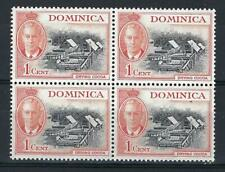 Dominica 1951  Sc# 123 Drying Coca George block 4 MNH