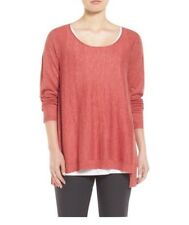 EILEEN FISHER TENCEL ALPACA BATEAU NECK SWEATER SIZES S&L RRP £175