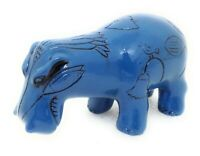 Egyptian Blue HIPPO FIGURINE William Replica Hippopotamus New Y5170