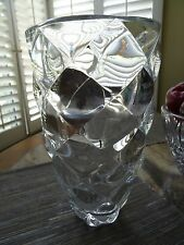 """RIEDEL Crystal Round Bubble 11"""" Signed Vase"""