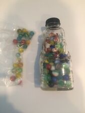 Vintage Lot Of 148 Glass Marbles And Bozo Jar