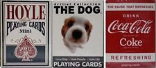 Hoyle Dog Coke 3 Deck Set Mini Playing Cards Small Size USPCC Novelty 4 Kids New