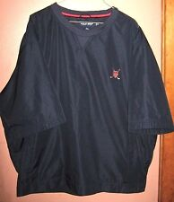 #188 Sz XL Navy Blue POLO RALPH LAUREN Crewneck Mesh Lined  Pullover Golf Jacket