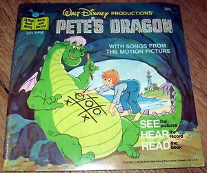 Pete's Dragon - Disneyland Small Record & Book - New Sealed