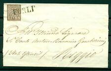 Etats Pontificaux 1852/64 - Y & T. n. 6 - Armoiries 5 baj. sur lettre