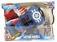 "Marvel Captain America Figure - Off-Road Avenger 9"" Vehicle W/Missile New in Box"