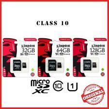 Kingston Micro SD Tarjeta de memoria SDHC con adaptador de tarjeta SD Teléfonos Móviles/Cámara