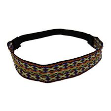 Soft Woven Boho Headband Diamond Pattern Girls Hairband Headwrap w/elastic