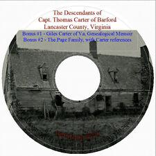 Descendants of Capt. Thomas Carter - Lancaster Co., VA