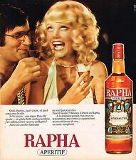 PUBLICITE ADVERTISING 024   1975   RAPHA    apéritif