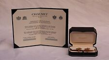 MAGNIFICENT BRAND NEW CHAUMET PARIS 18K GOLD EMERALD EARRING BOX, TAG