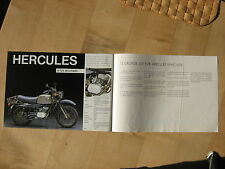 Hercules Prospekt K 125 Military Kleinkraftrad Mokick Moped Reklameprospekt gut