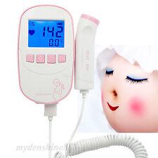 FDA NEW PINK Fetal Doppler Baby Heart Beat Monitor Pregnant w 3Mhz Probe
