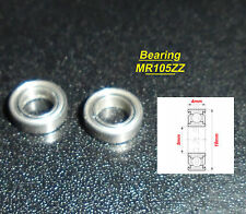 2 x Ball Bearing MR105ZZ Roulement à Billes 5 x 10 x 4mm MR105ZZ