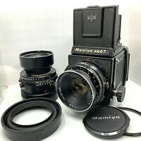 【EXC+5】MAMIYA RB67 Pro + SEKOR 127/3.8 + 180/4.5 2Lens + 120 Back from Japan 599