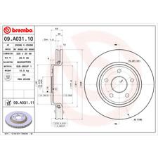 Bremsscheibe (2 Stück) COATED DISC LINE - Brembo 09.A031.11
