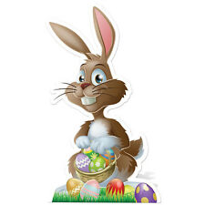 """EASTER BUNNY 3' 2"""" Tall CARDBOARD CUTOUT Standup Standee Poster Party Decoration"""