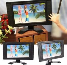 Flat Screen LCD TV For Barbie Doll Dollhouse Min Furniture 10cm Black US Seller