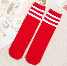 Boys Girls Toddler Kids Knee High Length Cotton Stripes School Sport Socks FB