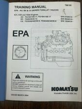 KOMATSU AX BX CX K21 K25 TB45 FORKLIFT ENGINE TRAINING  SERVICE MANUAL TM100