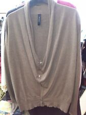 MARC CAIN BROWN ROLL NECK CARDSN/TOP 2 PIECE..SIZE N4..WOOL,CASHMERE,SILK
