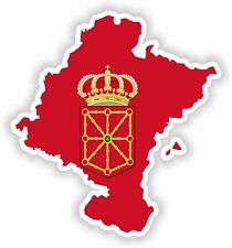 Pegatina comunidad Foral de Navarra fletado comunidad de Navarra Mapa Bandera
