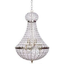 PALACE Empire Chandelier Crystal Pendant Light Antique Brass Large French Basket