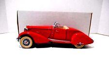1987  Danbury Mint Classics Cars  '1934 Red Packard V-12 Lebaron Speedster' 1/24