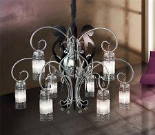 Lampadario moderno di design 9 luci argento con cristalli BELL casanova 1881/L9L
