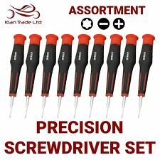 9pc Professional Precision Scredriver Set, Assortment of Phillips,Torx, Slotted
