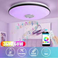36-60W Dimmable RGBW LED bluetooth Plafond Light Music Speaker Lampe APP Remote