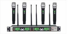 GTD 4x100 Channel UHF Wireless Handheld Microphone Mic System 500 Mhz Band B-33